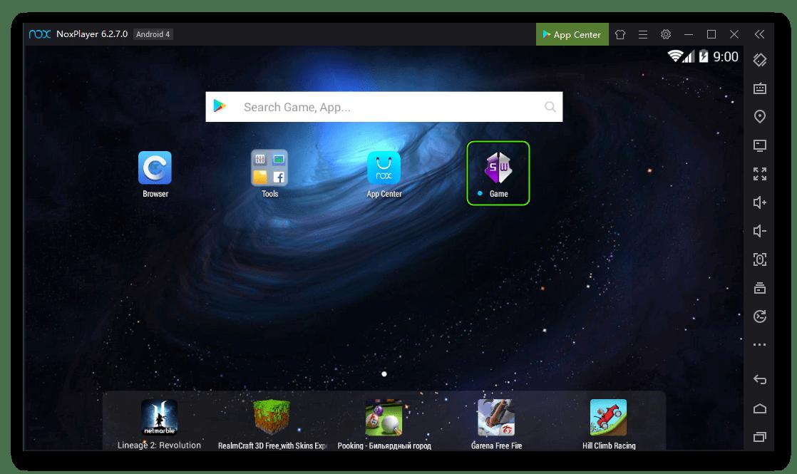 Начальный запуск Game Guardian для Nox App Player