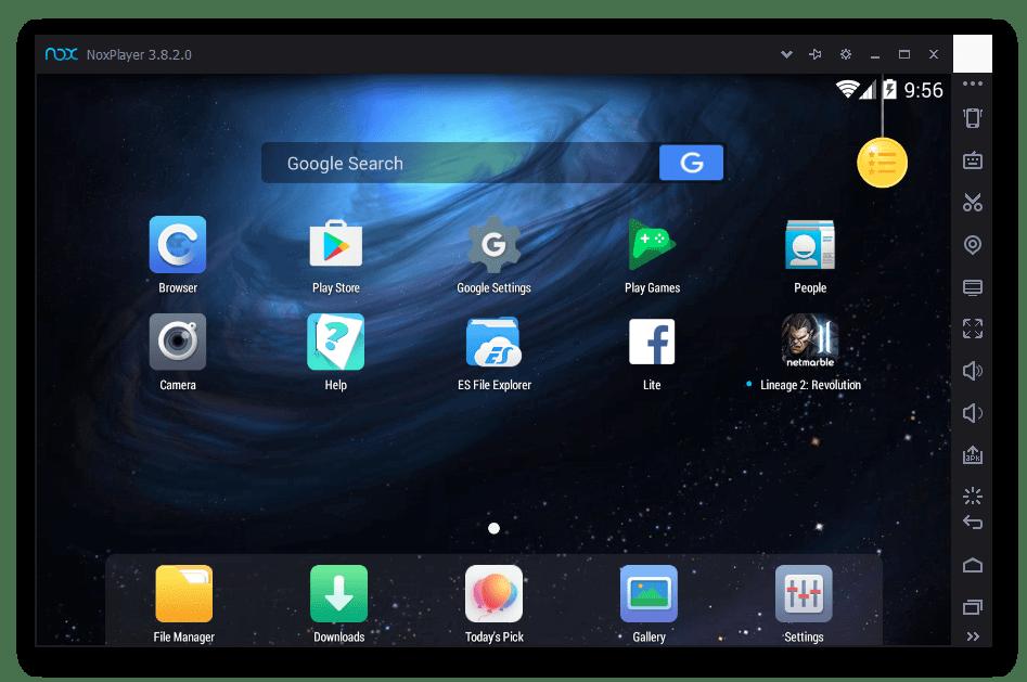 Общий вид Nox App Player 3